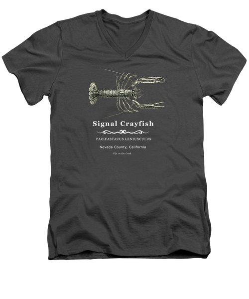Signal Crayfish Men's V-Neck T-Shirt