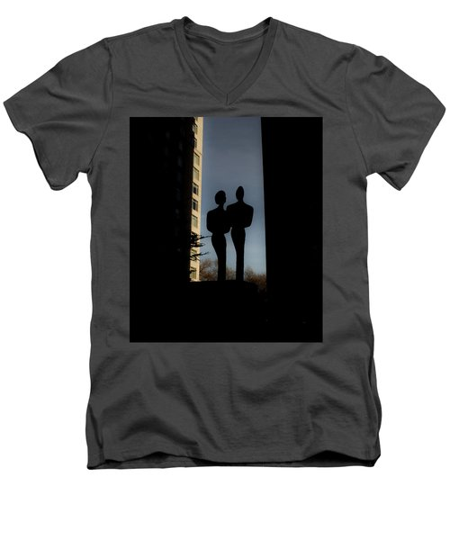 Sihlouette Men's V-Neck T-Shirt