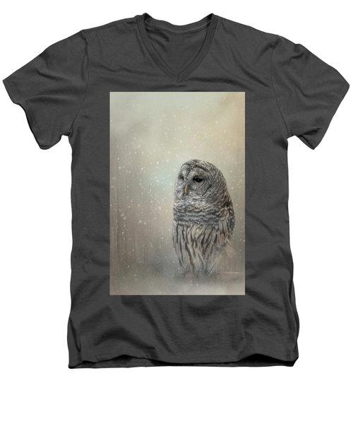 Silent Snow Fall Men's V-Neck T-Shirt
