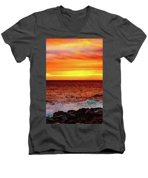Simple Warm Splash Men's V-Neck T-Shirt