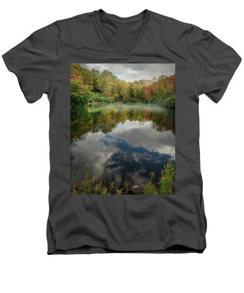 Sims Pond Blowing Rock North Carolina Men's V-Neck T-Shirt