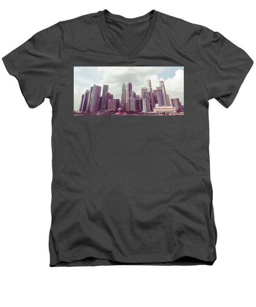 Singapore Cityscape The Second Men's V-Neck T-Shirt