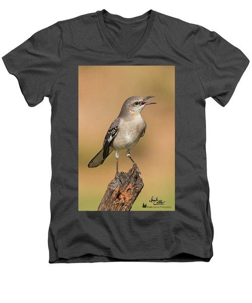 Singing Mockingbird Men's V-Neck T-Shirt