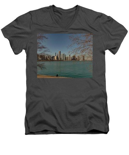 Sitting On A Summer Day Men's V-Neck T-Shirt