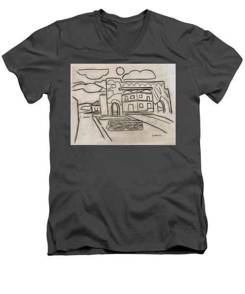Sketch Of Arch Laguna Del Sol Men's V-Neck T-Shirt