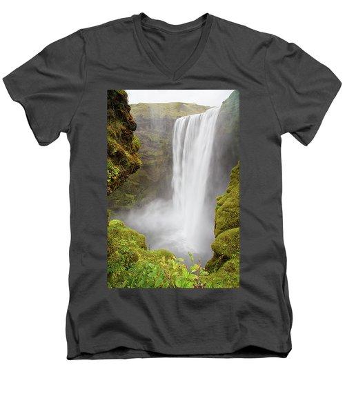 Skogafoss Iceland Men's V-Neck T-Shirt