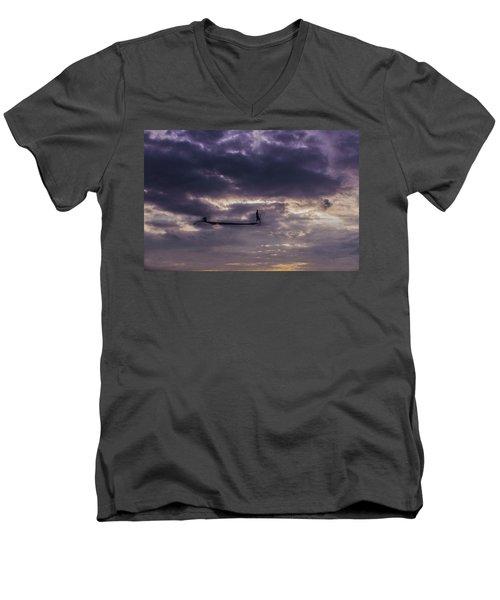 Sky Fisherman Men's V-Neck T-Shirt