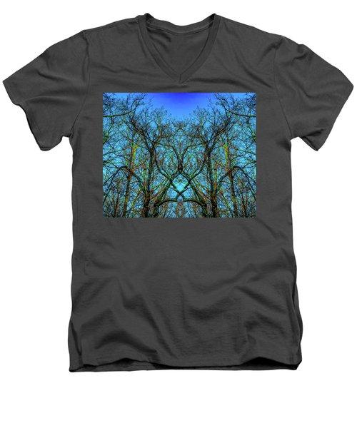 Sleeping Butterfly Men's V-Neck T-Shirt