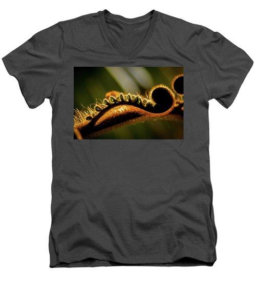 Sleepy Stretching Men's V-Neck T-Shirt
