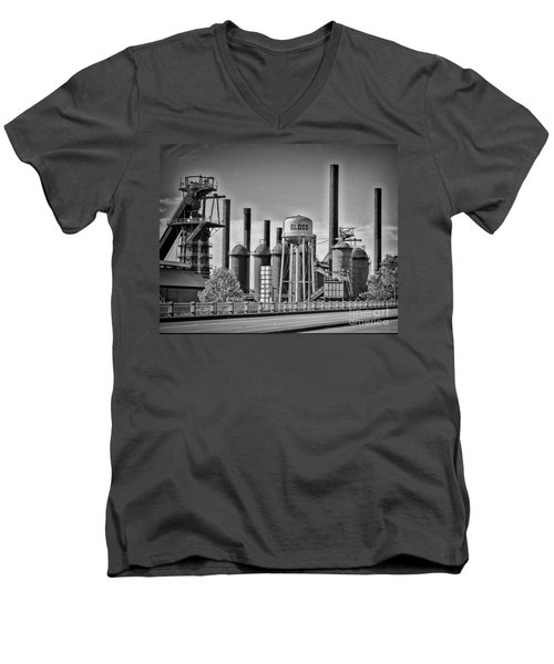 Sloss Furnaces Towers Men's V-Neck T-Shirt