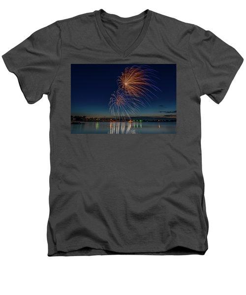 Small Town 4th Men's V-Neck T-Shirt