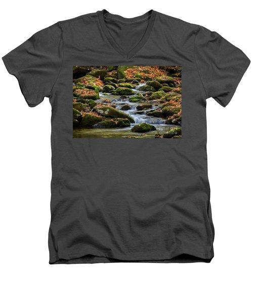Smokey Mountain Cascades Men's V-Neck T-Shirt