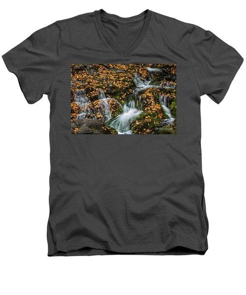 Smokey Mountain Falls Men's V-Neck T-Shirt