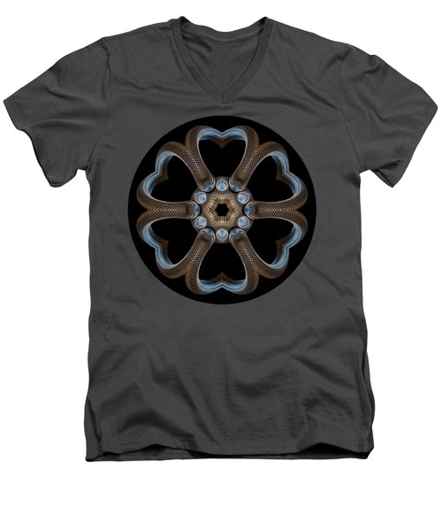 Snake Mandala Men's V-Neck T-Shirt