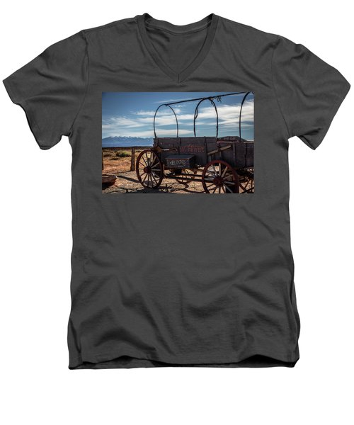Men's V-Neck T-Shirt featuring the photograph Snake Oil by David Morefield
