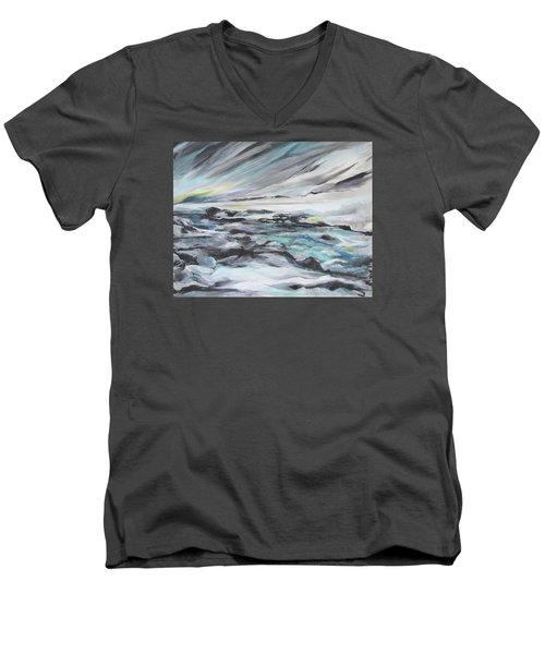 Snow Flow Men's V-Neck T-Shirt