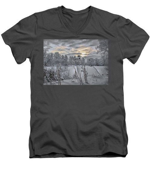 Snow #i3 Men's V-Neck T-Shirt