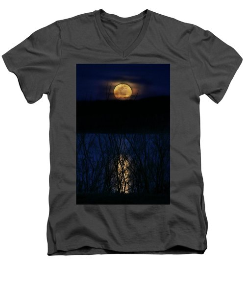 Snow Moon Men's V-Neck T-Shirt