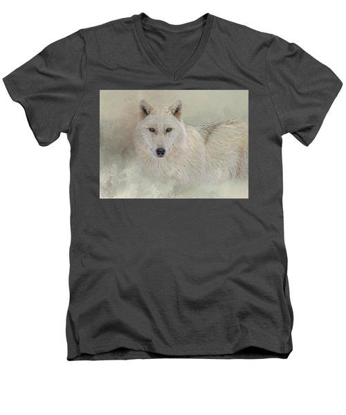 Snow Wolf Men's V-Neck T-Shirt