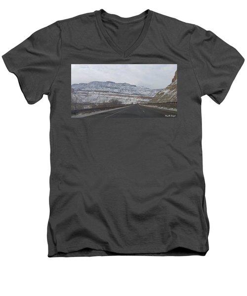 Snowy Mountain Road Men's V-Neck T-Shirt