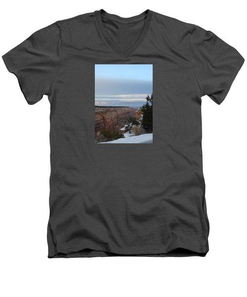 Snowy Sunset Men's V-Neck T-Shirt