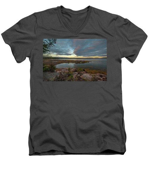 Somes Sound Sunset Men's V-Neck T-Shirt