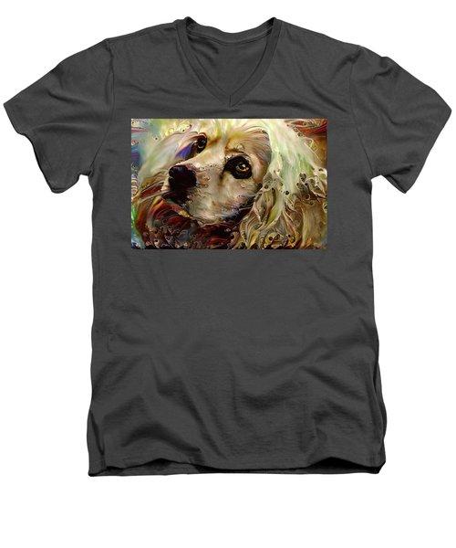 Soulful Cocker Spaniel Men's V-Neck T-Shirt
