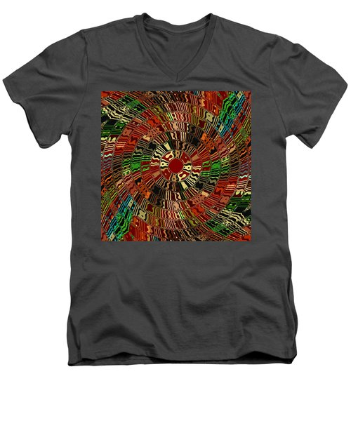 Southwestern Sun Swirl Men's V-Neck T-Shirt