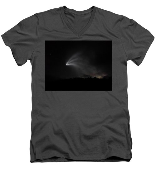 Space X Rocket Men's V-Neck T-Shirt