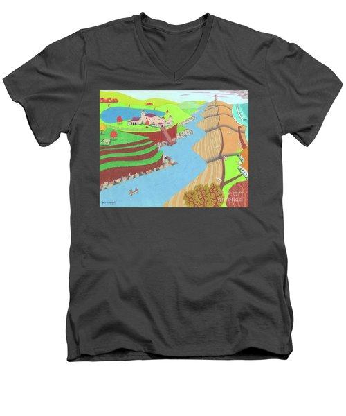 Spanish Wells Men's V-Neck T-Shirt