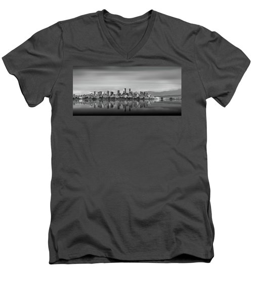 Special View Of Downtown Vancouver Men's V-Neck T-Shirt