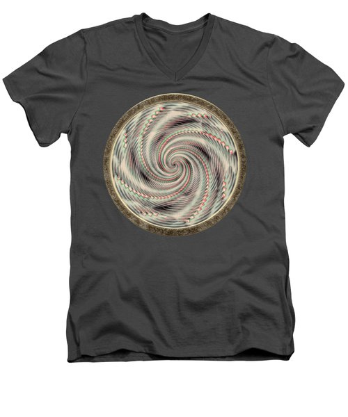 Spinning A Design For Decor And Clothing Men's V-Neck T-Shirt