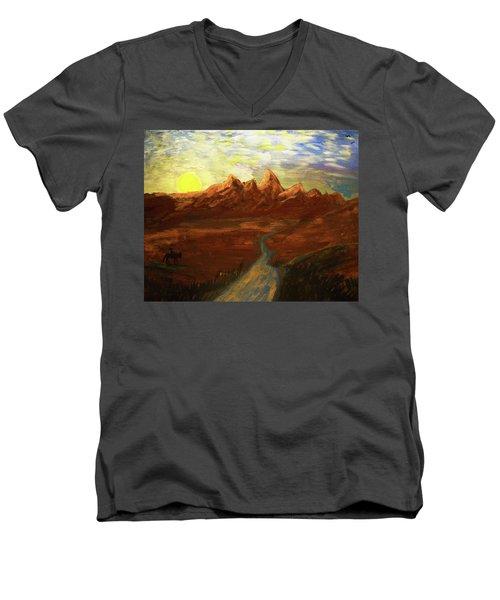 Spirit Of Wyoming Men's V-Neck T-Shirt