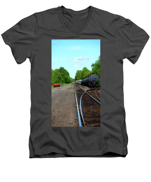 Split Rail Men's V-Neck T-Shirt