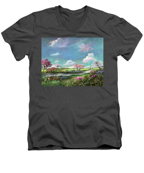 Spring In The Garden Of Eden Men's V-Neck T-Shirt