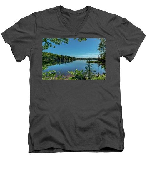 Spring Morning On Grand Sable Lake Men's V-Neck T-Shirt