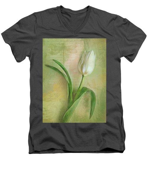 Spring Tulip Montage Men's V-Neck T-Shirt