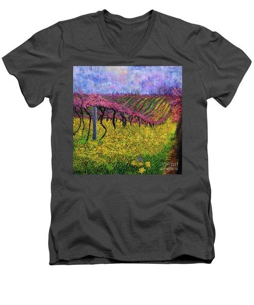Spring Vineyard Men's V-Neck T-Shirt