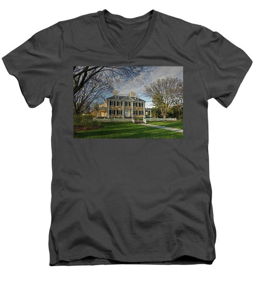 Springtime At Longfellow House Men's V-Neck T-Shirt