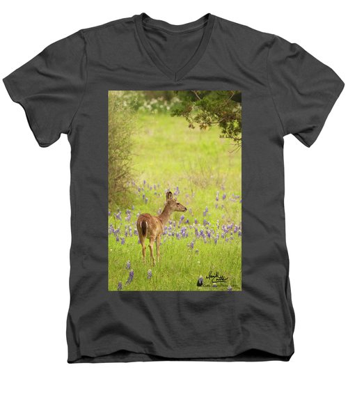 Springtime Whitetail Men's V-Neck T-Shirt