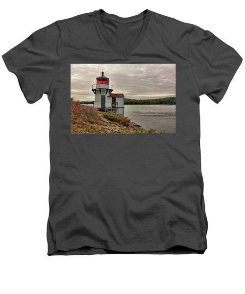 Squirrel Point Light Men's V-Neck T-Shirt
