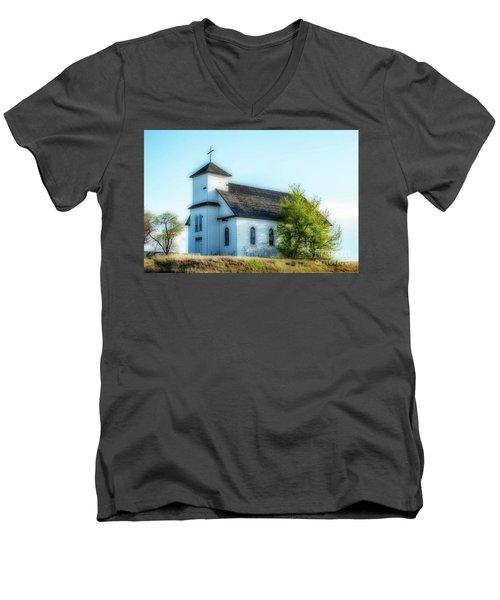 St. Agnes. Church Men's V-Neck T-Shirt