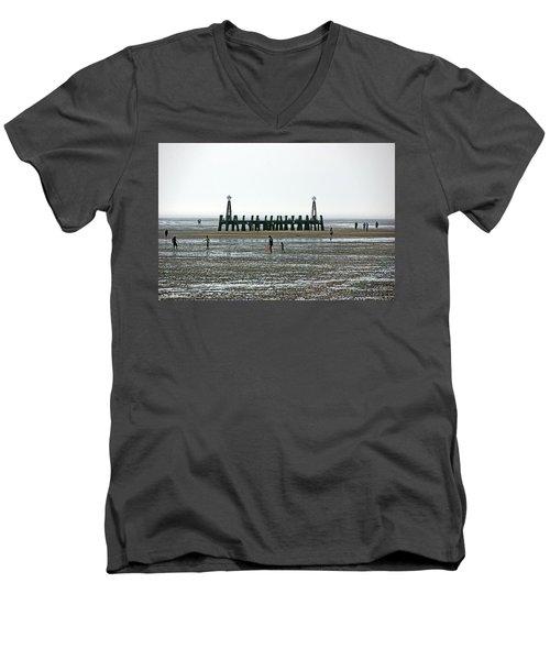 St. Annes. On The Beach. Men's V-Neck T-Shirt