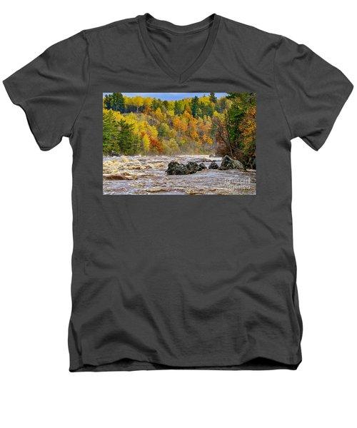 St. Louis River At Jay Cooke Men's V-Neck T-Shirt