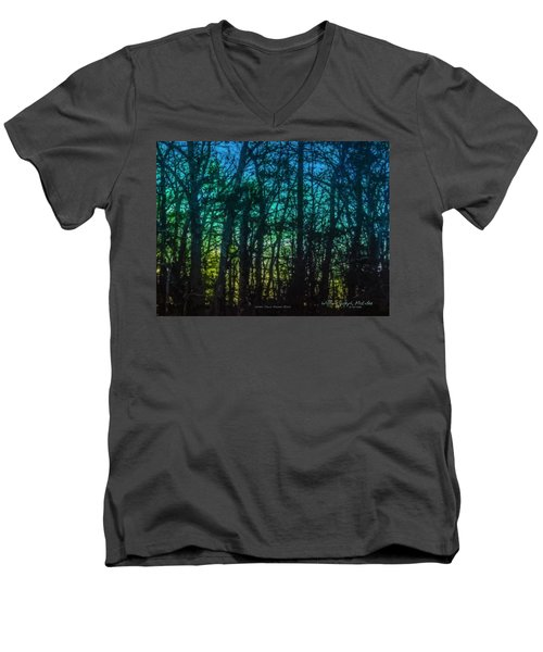 Stained Glass Dawn Men's V-Neck T-Shirt