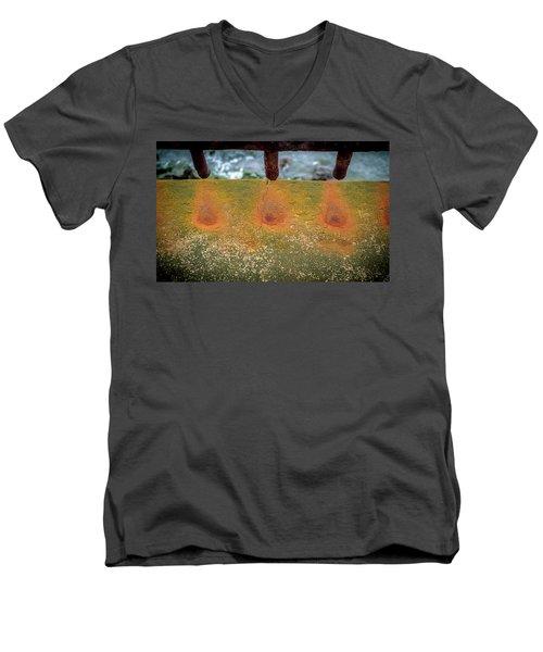 Stains Men's V-Neck T-Shirt