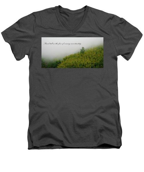 Stand Tall 2x1 Men's V-Neck T-Shirt
