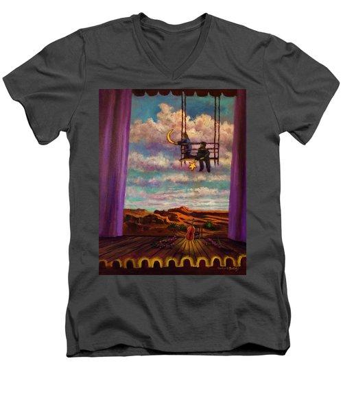 Starry Day Men's V-Neck T-Shirt