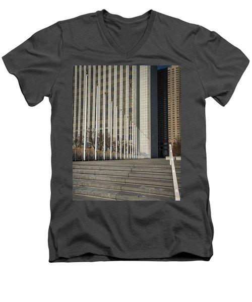 Steps And Poles Men's V-Neck T-Shirt