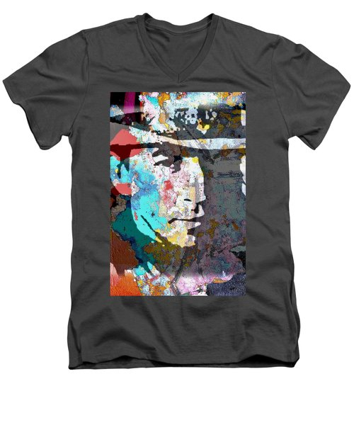 Stevie Ray Vaughan Men's V-Neck T-Shirt